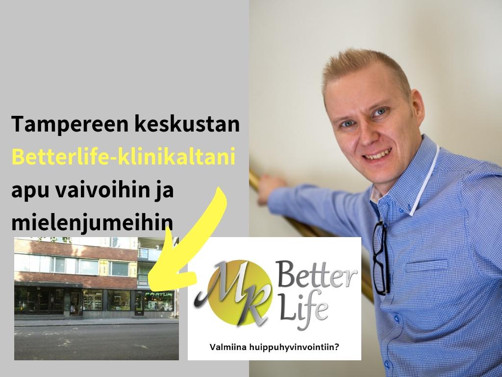 Terveysklinikka Matti Rautajoki palvelee Tampereen keskustassa Hämeenpuisto 25:ssä.